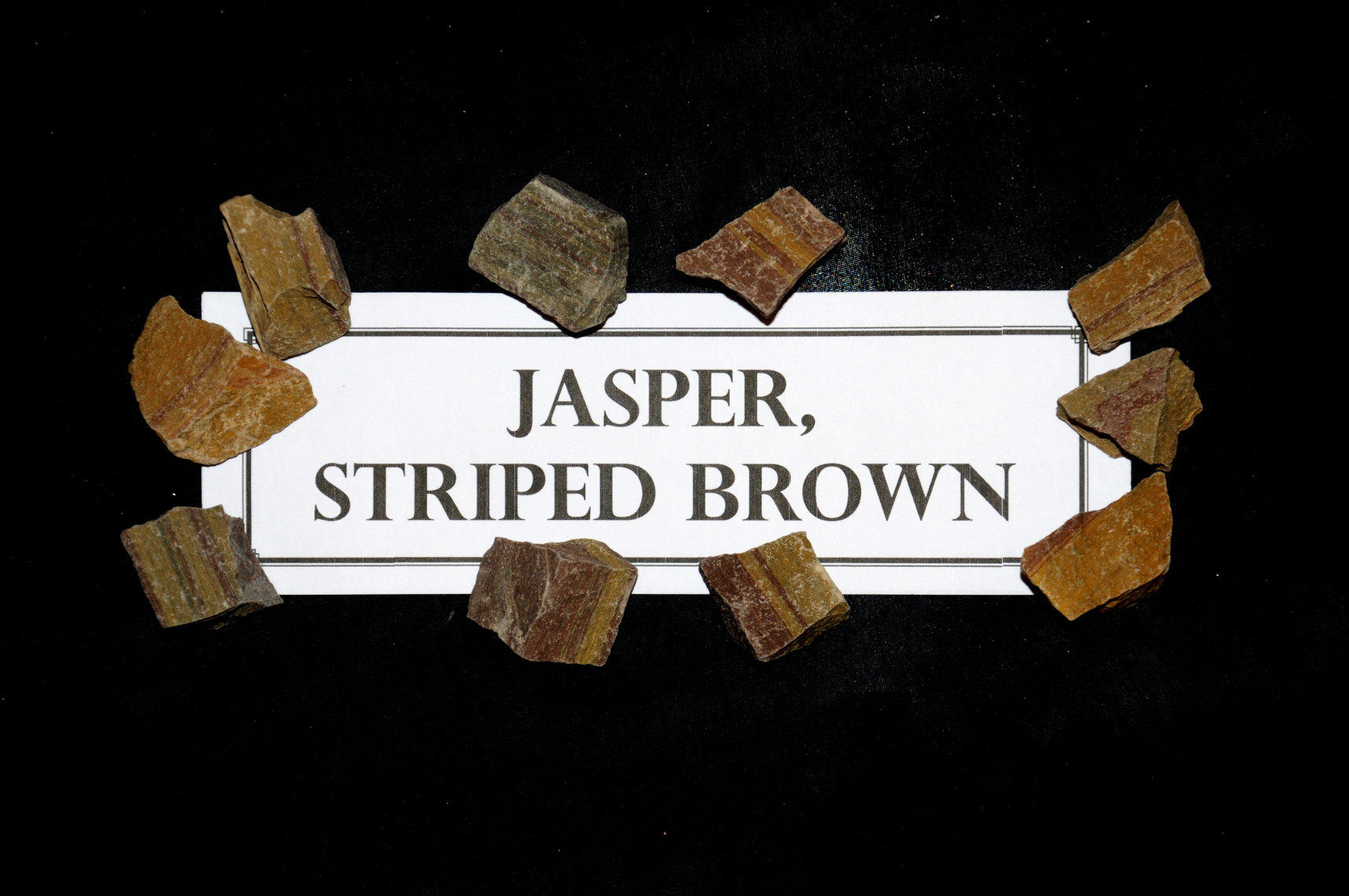 Jasper, Striped Brown