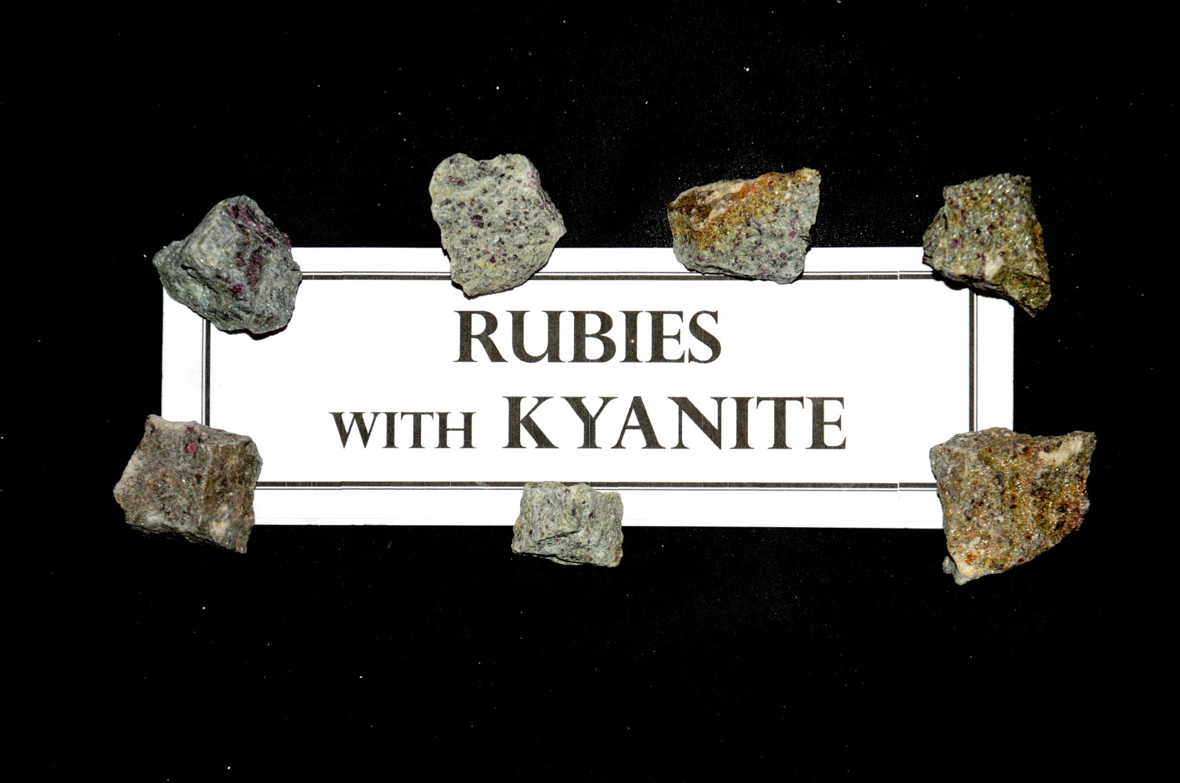Rubies with Kyanite